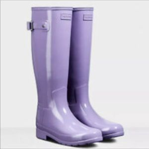 🆕 HUNTER lavender purple tall rain boots- size 10